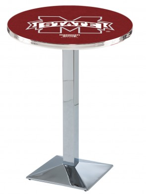 Mississippi State Chrome L217 Logo Pub Table