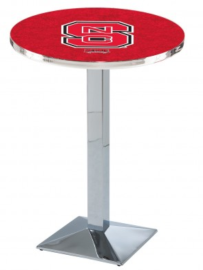 North Carolina State Chrome L217 Logo Pub Table