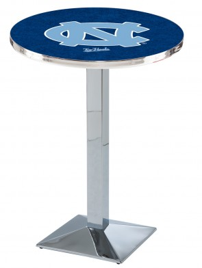 North Carolina Chrome L217 Logo Pub Table