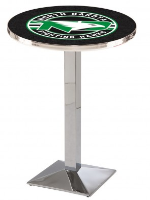 North Dakota Chrome L217 Logo Pub Table