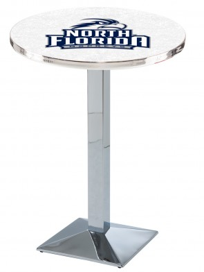 North Florida Chrome L217 Logo Pub Table