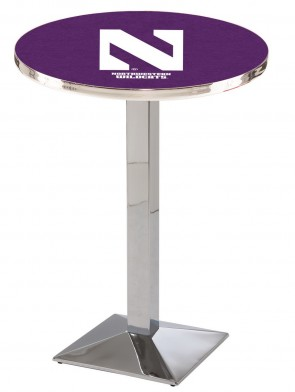 Northwestern Chrome L217 Logo Pub Table