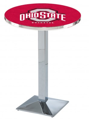 Ohio State Chrome L217 Logo Pub Table