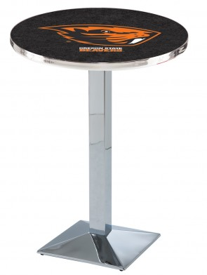 Oregon State Chrome L217 Logo Pub Table