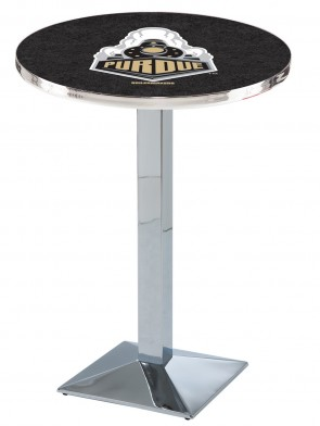 Purdue Chrome L217 Logo Pub Table