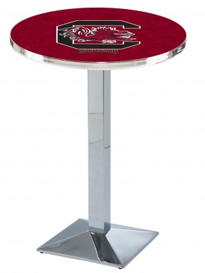 South Carolina Chrome L217 Logo Pub Table