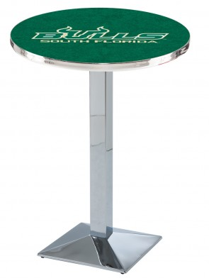 South Florida Chrome L217 Logo Pub Table