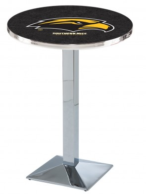 Southern Miss Chrome L217 Logo Pub Table
