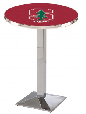 Stanford Chrome L217 Logo Pub Table