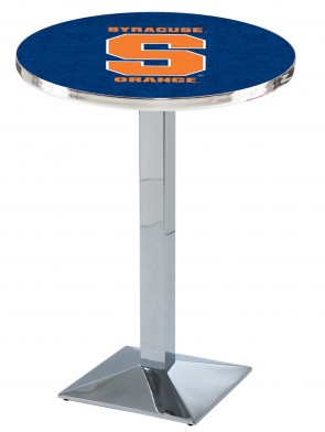 Syracuse Chrome L217 Logo Pub Table