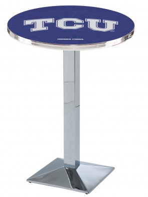 TCU Chrome L217 Logo Pub Table