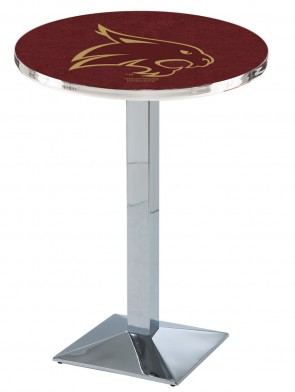 Texas State Chrome L217 Logo Pub Table