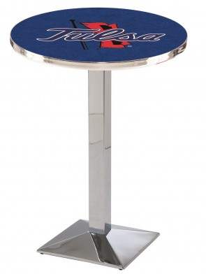 Tulsa Chrome L217 Logo Pub Table
