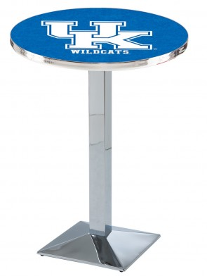 Kentucky Chrome L217 UK Logo Pub Table