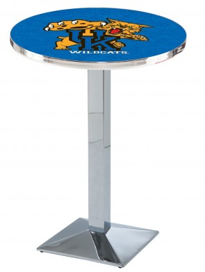 Kentucky Chrome L217 Wildcat Logo Pub Table