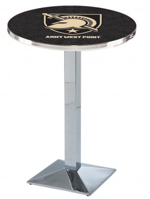 US Military Academy Chrome L217 Logo Pub Table
