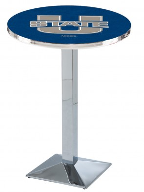 Utah State Chrome L217 Logo Pub Table