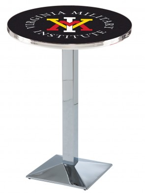VMI Chrome L217 Logo Pub Table