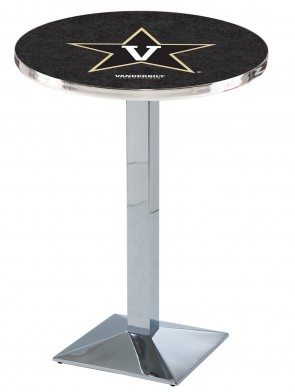 Vanderbilt Chrome L217 Logo Pub Table