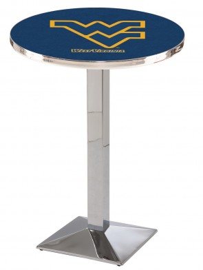West Virginia Chrome L217 Logo Pub Table