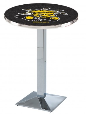 Wichita State Chrome L217 Logo Pub Table