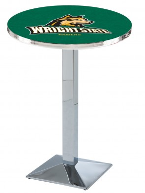 Wright State Chrome L217 Logo Pub Table