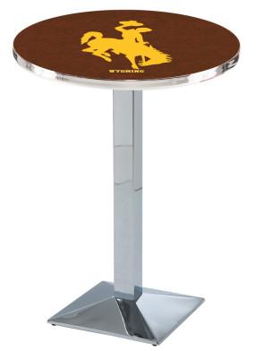 Wyoming Chrome L217 Logo Pub Table