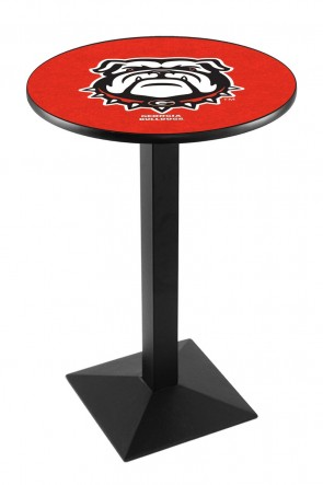 Georgia L217 Bulldog Logo Pub Table