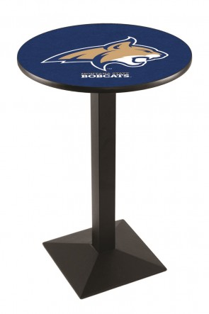 L217 Black Wrinkle Montana State University Logo Pub Table