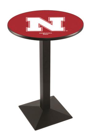 Nebraska L217 Logo Pub Table