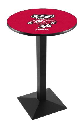 Wisconsin L217 Bucky Logo Pub Table