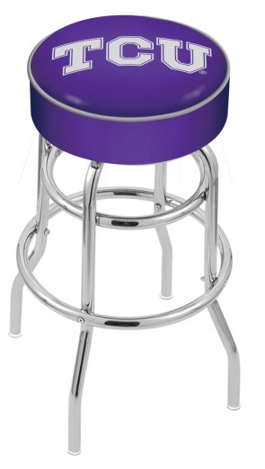 L7C1 Texas Christian University Logo Stool