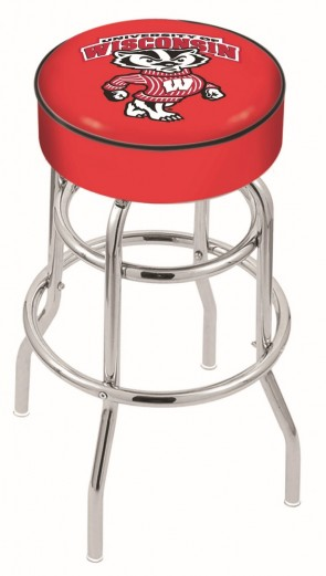 L7C1 University of Wisconsin - Bucky Logo Stool