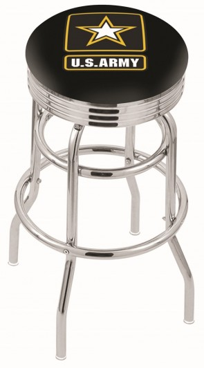 L7C3C US Army Logo Bar Stool