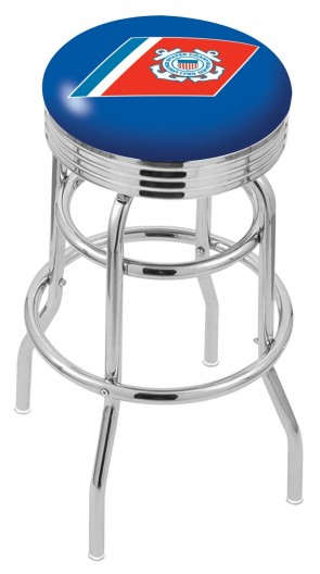 L7C3C US Coast Guard Logo Bar Stool