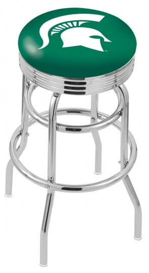 L7C3C Michigan State University Logo Bar Stool