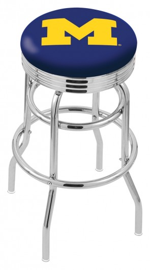 L7C3C University of Michigan Logo Bar Stool