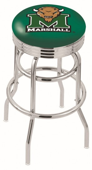 L7C3C Marshall University Logo Bar Stool