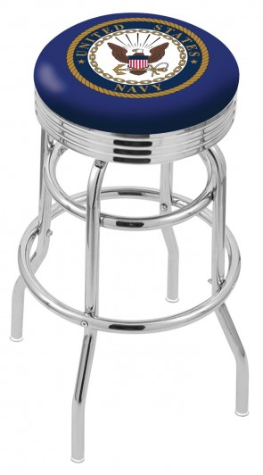 L7C3C US Navy Logo Bar Stool