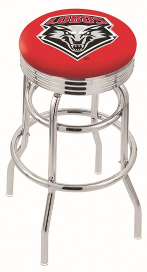 L7C3C University of New Mexico Logo Bar Stool