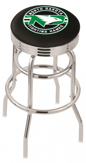 L7C3C University of North Dakota Logo Bar Stool