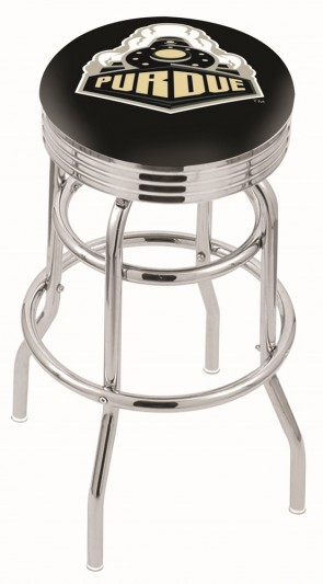 L7C3C Purdue University Logo Bar Stool