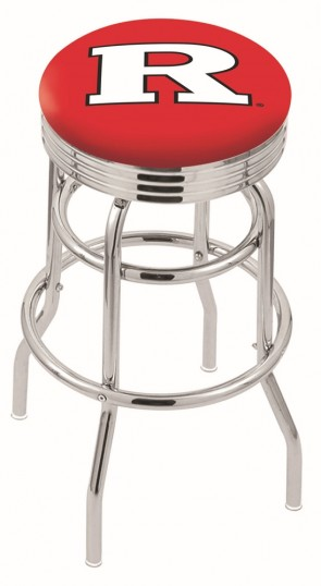 L7C3C Rutgers University Logo Bar Stool