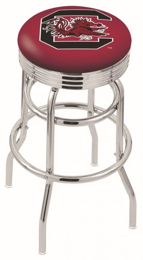 L7C3C University of South Carolina Logo Bar Stool