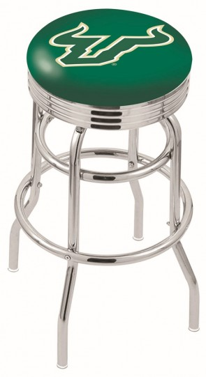 L7C3C University of South Florida Logo Bar Stool
