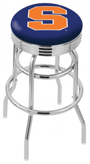 L7C3C Syracuse University Logo Bar Stool
