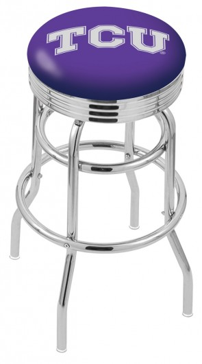 L7C3C Texas Christian University Logo Bar Stool