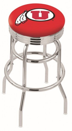 L7C3C University of Utah Logo Bar Stool