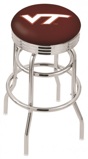 L7C3C Virginia Tech Logo Bar Stool