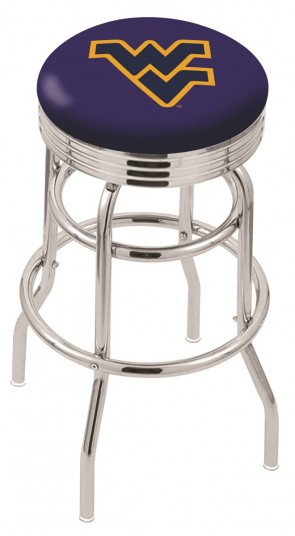 L7C3C West Virginia University Logo Bar Stool
